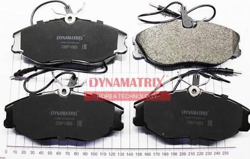 Dynamatrix DBP1063 - Комплект тормозных колодок, дисковый тормоз autodnr.net