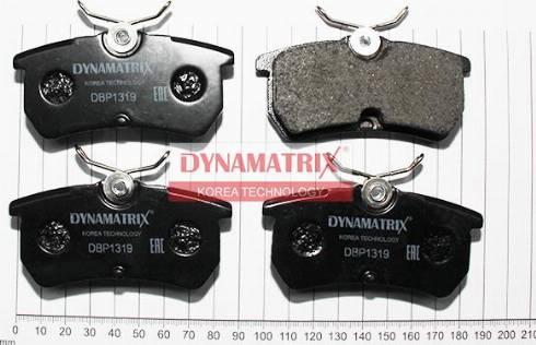 Dynamatrix DBP1319 - Комплект тормозных колодок, дисковый тормоз autodnr.net