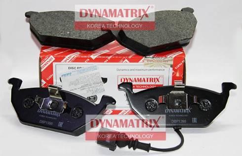 Dynamatrix DBP1398 - Комплект тормозных колодок, дисковый тормоз autodnr.net