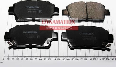 Dynamatrix DBP1985 - Комплект тормозных колодок, дисковый тормоз autodnr.net