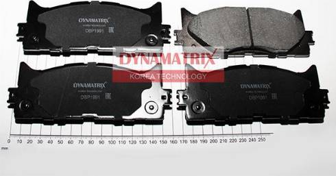 Dynamatrix DBP1991 - Тормозные колодки, дисковые car-mod.com