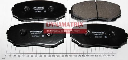 Dynamatrix DBP4365 - Комплект тормозных колодок, дисковый тормоз autodnr.net