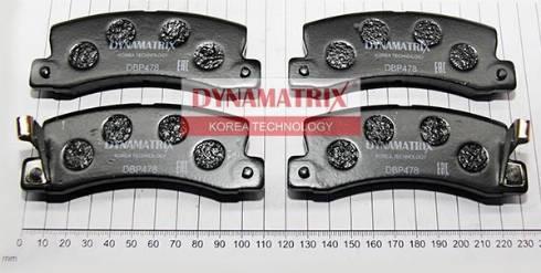 Dynamatrix DBP478 - Комплект тормозных колодок, дисковый тормоз autodnr.net