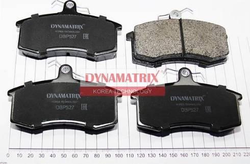 Dynamatrix DBP527 - Комплект тормозных колодок, дисковый тормоз autodnr.net