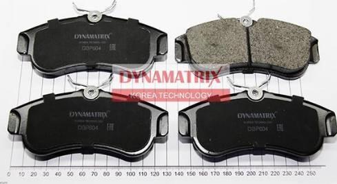 Dynamatrix DBP604 - Комплект тормозных колодок, дисковый тормоз autodnr.net
