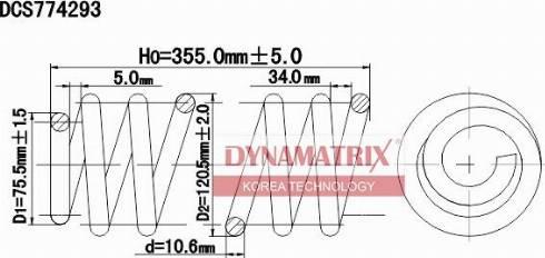 Dynamatrix DCS774293 - Пружина ходовой части autodnr.net