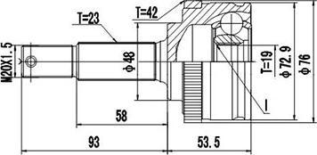 Dynamatrix DCV841058 - Шарнирный комплект, приводной вал autodnr.net