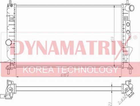 Dynamatrix DR630121 - Радиатор, охлаждение двигателя autodnr.net
