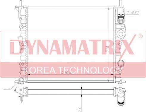 Dynamatrix DR639371 - Радиатор, охлаждение двигателя autodnr.net