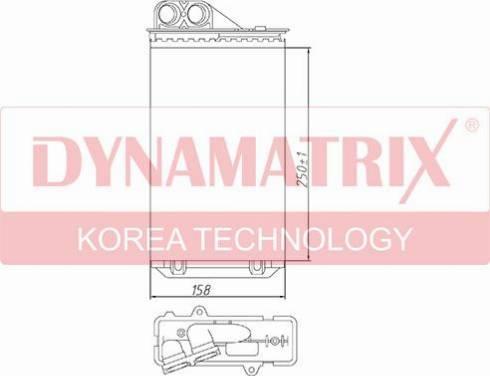 Dynamatrix DR72936 - Теплообменник, отопление салона autodnr.net