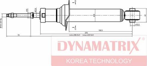 Dynamatrix DSA341226 - Амортизатор autodnr.net