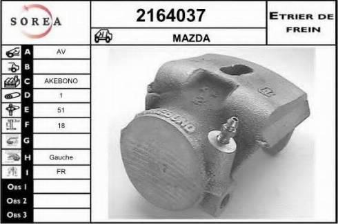EAI 2164037 - Тормозной суппорт avtokuzovplus.com.ua