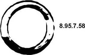 Eberspächer 8.95.7.58 - Уплотнительное кольцо, труба выхлопного газа autodnr.net