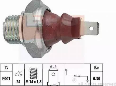EPS 1800023 - Датчик давления масла autodnr.net