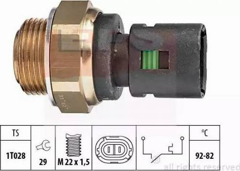 EPS 1.850.128 - Термовыключатель, вентилятор радиатора / кондиционера avtokuzovplus.com.ua