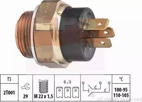 EPS =1850619 - Термовыключатель, вентилятор радиатора autodnr.net