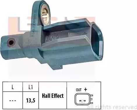 EPS 1.960.137 - Датчик ABS, частота вращения колеса autodnr.net