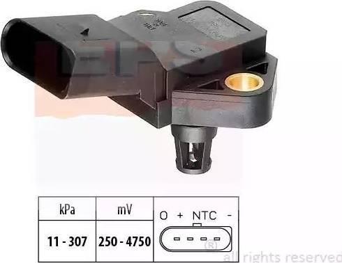 EPS 1993075 - Датчик, давление выхлопных газов avtokuzovplus.com.ua