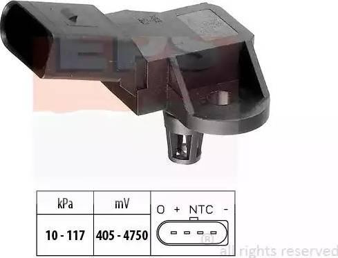 EPS 1.993.090 - Датчик, давление выхлопных газов car-mod.com