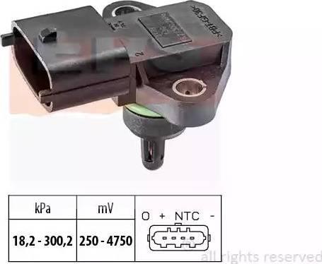 EPS 1.993.178 - Датчик, давление выхлопных газов car-mod.com