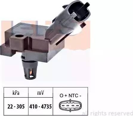 EPS 1993186 - Датчик, давление выхлопных газов autodnr.net