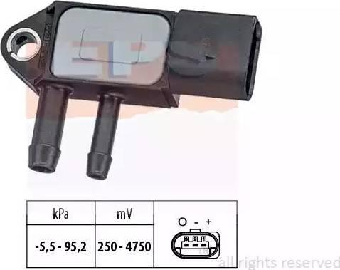 EPS 1993263 - Датчик, давление выхлопных газов avtokuzovplus.com.ua