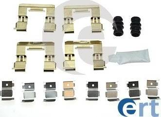 ERT 420202 - Комплектующие, колодки дискового тормоза avtokuzovplus.com.ua