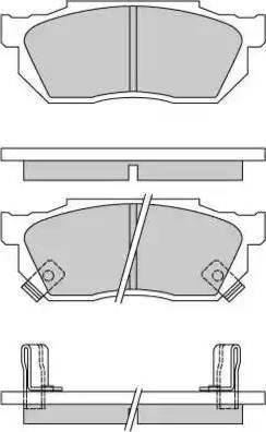 E.T.F. 12-0289 - Комплект тормозных колодок, дисковый тормоз autodnr.net