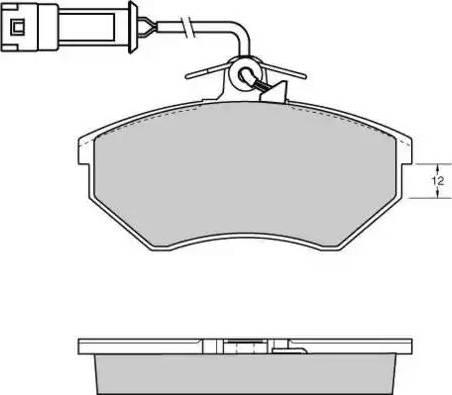 E.T.F. 12-0533 - Комплект тормозных колодок, дисковый тормоз autodnr.net