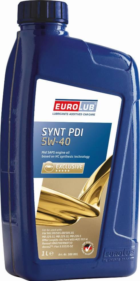 EUROLUB 308001 - Моторное масло autodnr.net