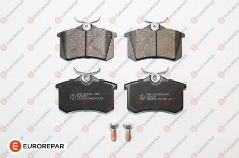 EUROREPAR 1617250180 - Комплект тормозных колодок, дисковый тормоз autodnr.net