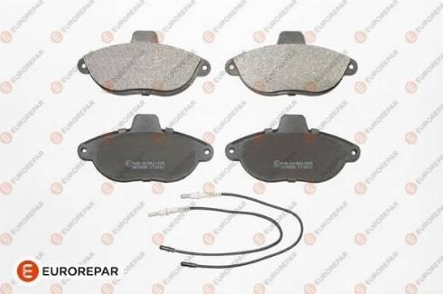 EUROREPAR 1617250580 - Комплект тормозных колодок, дисковый тормоз autodnr.net