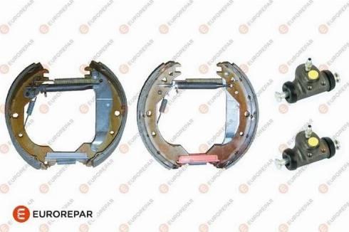 EUROREPAR e170131 - Комплект тормозов, барабанный тормозной механизм autodnr.net