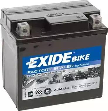 Exide AGM12-5 - Стартерная аккумуляторная батарея, АКБ car-mod.com