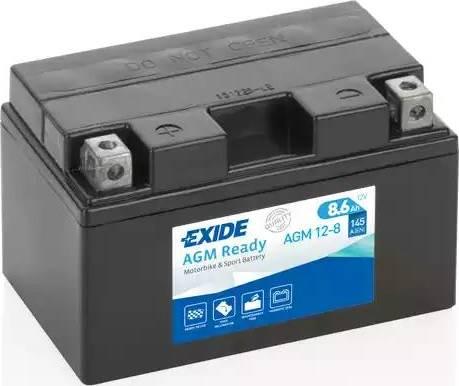 Exide AGM12-8 - Стартерная аккумуляторная батарея car-mod.com