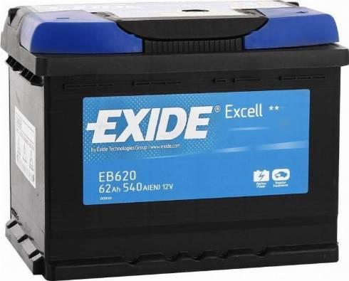 Exide eb620 - Стартерная аккумуляторная батарея autodnr.net