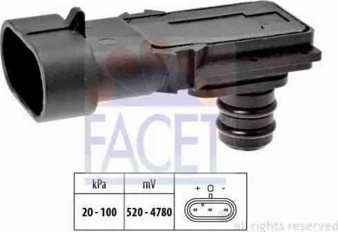 FACET 10.3023 - Датчик, давление во впускной трубе avtokuzovplus.com.ua