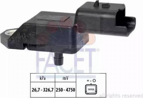 FACET 103134 - Датчик, давление выхлопных газов avtokuzovplus.com.ua