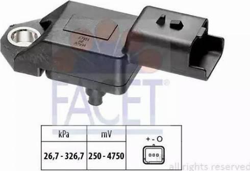 FACET 103136 - Датчик, давление выхлопных газов car-mod.com