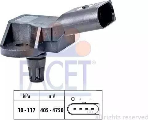 FACET 103157 - Датчик давления, усилитель тормозной системы car-mod.com