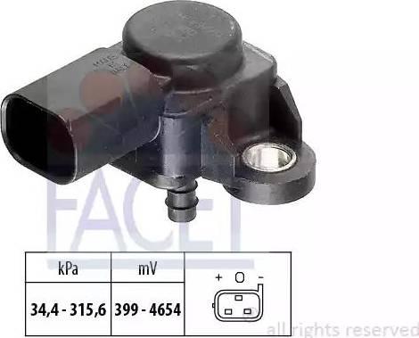 FACET 103165 - Датчик, давление выхлопных газов car-mod.com