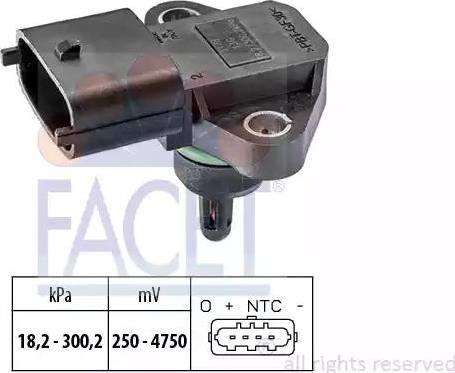 FACET 10.3178 - Датчик, давление выхлопных газов car-mod.com