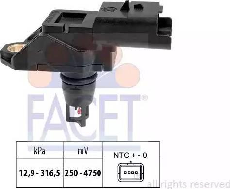 FACET 103261 - Датчик, давление выхлопных газов autodnr.net