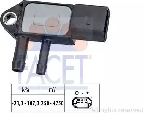 FACET 103265 - Датчик, давление выхлопных газов avtokuzovplus.com.ua