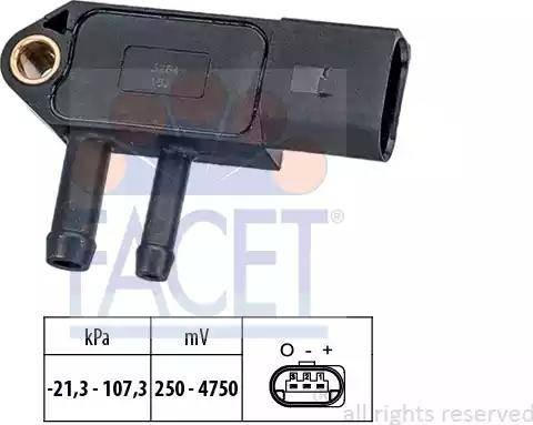 FACET 103266 - Датчик, давление выхлопных газов avtokuzovplus.com.ua