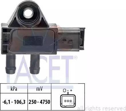 FACET 103271 - Датчик, давление выхлопных газов autodnr.net