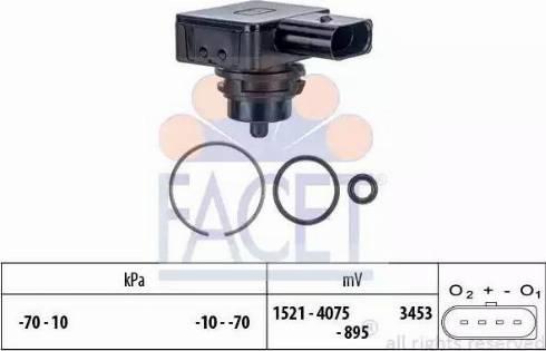 FACET 103275 - Датчик давления, усилитель тормозной системы car-mod.com