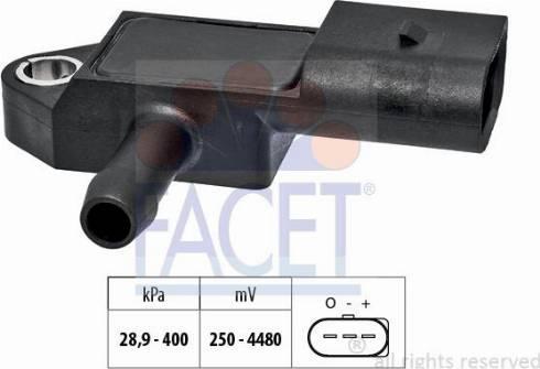FACET 103327 - Датчик, давление выхлопных газов autodnr.net