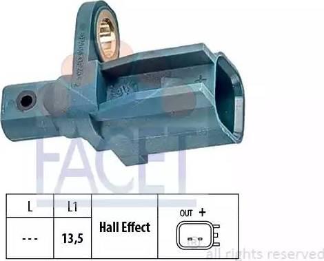 FACET 21.0137 - Датчик ABS, частота вращения колеса autodnr.net