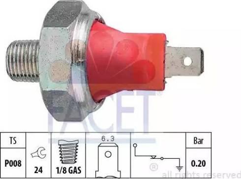 FACET 7.0035 - Датчик давления масла autodnr.net